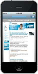Focus Infocom iphone3