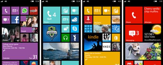 WP8 Startscreen